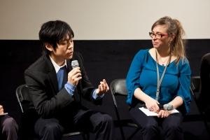 director Hirofumi Nakamoto with Maike Mia Höhne