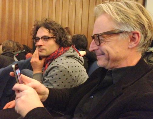 Ulu Braun und Olaf Stüber bei der Transmediale