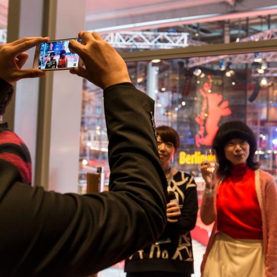 Yoriko Mizushiri and Tamaki Okamoto at AUDI Berlinale Lounge