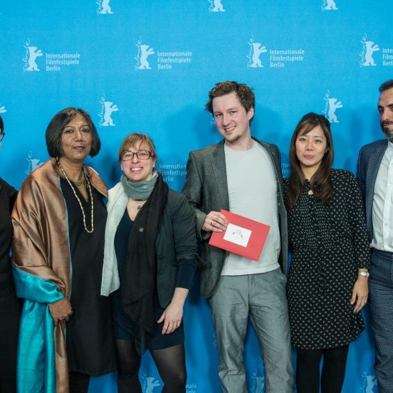Bettina Schwarz (European Film Awards), Madhusree Dutta (Jury), Maike Mia Höhne (curator Berlinale Shorts), Till Nowak ('Dissonance'), Halil Altındere, Wahyuni A. Hadi (Jury)